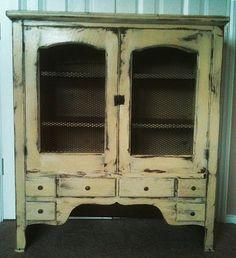 Charming RESERVED FOR DIXIE Antique/Vintage Cabinet, Pie Safe, Linen Cabinet, Shelf