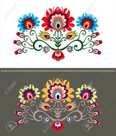 Folk Embroidery Patterns Polish Design Inspiration Royalty Free Cliparts, Vectors, And Stock Illustration. Image - - Millions of Creative Stock Photos, Vectors, Videos and Music Files For Your Inspiration and Projects. Polish Embroidery, Etsy Embroidery, Simple Embroidery, Embroidery Hoop Art, Hand Embroidery Patterns Free, Christmas Embroidery Patterns, Embroidery Flowers Pattern, Machine Embroidery Designs, Folk Art Flowers