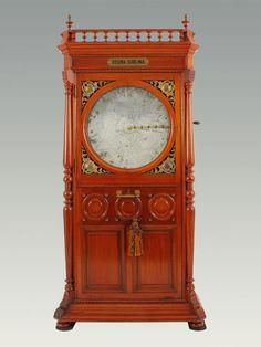 Regina Sublima upright disc music box in mahogany cabinet, circa 1890