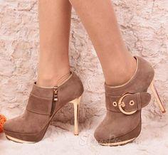 2014 New Arrival Suede Bootie Heels. ♡ Shoes
