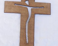 Wood cross, wood wall cross, wooden cross, wood cross centerpiece, baptism, personalized gift