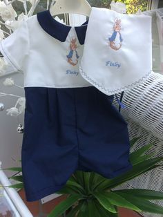 Objective Baby Clothes Peter Rabbit Baby Blue Romper Suit Peter Rabbit