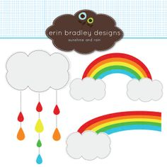 Rainbow Clipart Clip Art Personal & by ErinBradleyDesigns on Etsy, $5.00