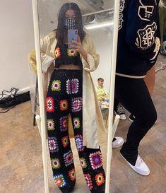 Crochet Pants, Crochet Clothes, Diy Clothes, Knit Crochet, Crochet Cardigan, Crotchet, Knit Fashion, Look Fashion, Fashion Outfits