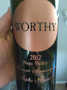 "Worthy ""Sophia's Cuvée"" 2012  Napa Valley Cabernet Sauvignon. 86% Cab, 9% Cab Franc, 5% PV   Very nice - black/blueberry, dark cherry, cassis, with earthy notes."