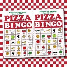 Pizza Bingo Birthday Board Game Electronic by CBendelDesigns