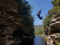 Book your kloofing or canyoning trip today with Eden Adventures in Wilderness, South Africa - Dirty Boots Adventure Holiday, Adventure Tours, Adventure Center, Adventure Activities, Outdoor Activities, South Africa, Garden, Trips, Boots