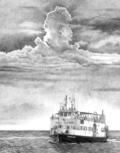 Pelee Island Drawing - The Pelee Islander by Bob Manthey