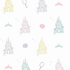 Disney Princess Castle Peel and Stick Wallpaper - Roll / White