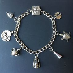 Over the Garden Wall Silver Charm Bracelet  Fall by AsPerUnusual