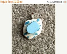 Pottery Pendant-Gift Idea-Summer Jewelry-Beach by kitscreations