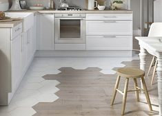 LOVE the hex tile transitioning to the hardwood... I want this in my forever home