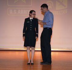 https://flic.kr/p/KiRbgy | Cabada 1 | 2nd Lt. Yvette Cabada from University of Illinois at Chicago, is commissioned as a second lieutenant in the United States Army at Fort Knox, Ky., July 20. Photo by Emily LaForme