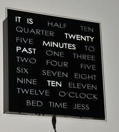 unique hand-made clock
