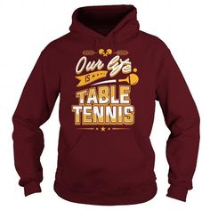 Cool #TeeForTable Tennis TABLE TENNIS IS OUR… - Table Tennis Awesome Shirt - (*_*)