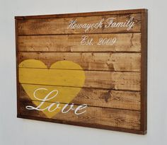 Wood Plank Love Sign Family Established Sign Home Decor