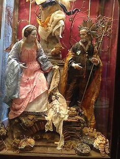Presepe Napoletano Nativita'Neapolitan crib Creche Madonna San Giuseppe Arte