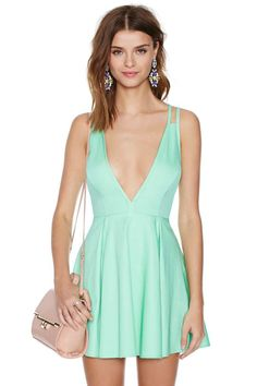 Nasty Gal Live It Up Dress - Mint | this with a sheer panel in the breast area would be divine...and/or if I could cheat nature and actually just grow boobs