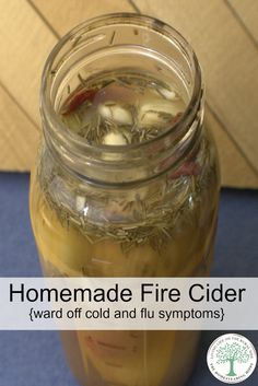 """A spicy hot, deliciously sweet vinegar tonic., fire cider is a great way to """"let your food be your medicine"""" and ward off cold and flu symptoms. The Homesteading Hippy via @homesteadhippy"""