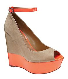 Jessica Simpson Carrac Peep-Toe Wedges | Dillards.com
