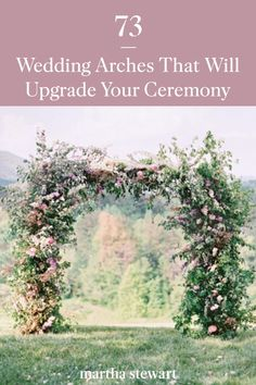 We're sharing some of our favorite wedding arches that will help round out your big day. From broken-arch style structures to classic full, floral arches, ahead, explore some of our favorites from real weddings. #weddingideas #wedding #marthstewartwedding #weddingplanning #weddingchecklist Simple Wedding Arch, Wedding Arch Rustic, Wedding Arches, Nautical Wedding, Floral Wedding, Wedding Flowers, Wedding Chuppah, Wedding Ceremony, Dendrobium Orchids