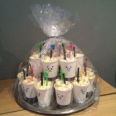 Groep 5#🐼#Traktatie#Popcorn 70th Birthday Card, Birthday Favors, Birthday Diy, Girl Birthday, Kids Birthday Treats, Plastic Bag Crafts, Diy And Crafts, Crafts For Kids, Pop Up Box Cards