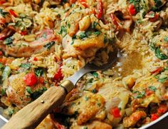 CHICKEN PEANUT PERLOO RECIPE  |   A comforting recipe for Southern chicken and rice.  PERLOO is the Southern term for pilaf or pilau, a dish of seasoned rice often served with meat.  Its Lowcountry homey food.  (by Chris Chamberlain)