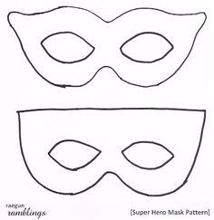 Free Super Hero Mask Pattern and Tutorial - Rae Gun Ramblings
