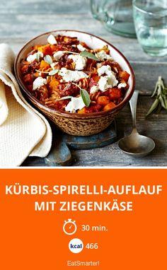 Kürbis-Spirelli-Auflauf mit Ziegenkäse