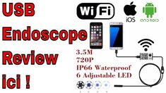 Endoscope Caméra Review Pour Android ou iPhone Unboxing Wifi ou Micro US...