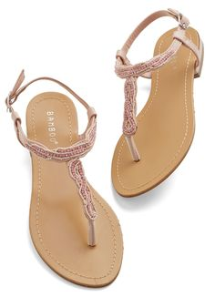 Should I do sandals for my wedding shoe?! Is that too casual? These are a great colour! And the beading is so fun :)