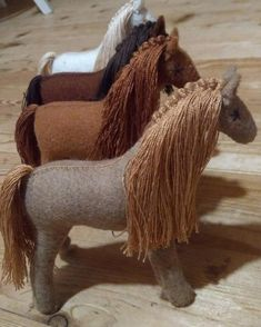 The beautiful felt horse and saddle made of Hungarian wool felt. Designed from scratch by me including felting pattern and decoration. ~~~~~~~~Their bodies are stuffed with natural wool. Its mane, tail, mule tape halter were made using cotton thread.~~~~~~~~~Its mane, tail are brushable, fashionable, and can be braided.It is a great gift for children for playing and/or sleeping friend.Such a beautiful horse will surely capture attention of children for hours. ~~~~~Very practical toy that can ser Toys For Girls, Gifts For Girls, Baby Girls, Horse Drawn Wagon, Big Horses, Natural Toys, Felt Toys, Felt Animals, Handmade Toys
