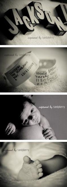 Newborn photography by ericka Love the idea of taking photos of hospital | http://my-lovely-new-born-photos.blogspot.com