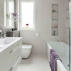 Small modern white bathroom bathroom decorating ideal home housetohome