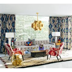 """Today for you """"In this Spring Inspire Yourself with 10 Living Rooms by Jonathan Adler"""", we´ve gathered some of the best interior design projects by Jonathan Adl Room Paint Colors, Paint Colors For Living Room, Living Room Designs, Living Room Decor, Living Spaces, Living Rooms, Jonathan Adler, Best Interior Design, Interior Design Inspiration"""