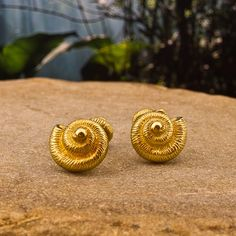 Gold Nautilus Tiffany & Co Cufflinks