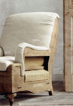 Deconstructed Chair Upholstery- Restoration Hardware