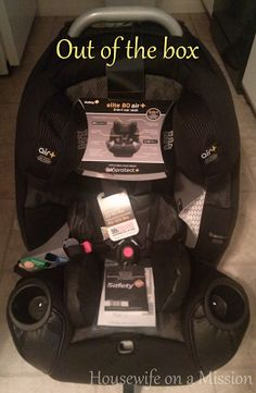 Housewife on a Mission: Safety 1st Elite 80 Air + 3-in-1 Car Seat #FALLingForBaby