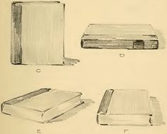 Sketches C, D, E and F show a book in various positions