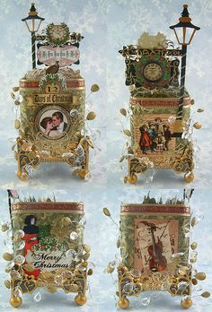 12 Days of Christmas Altered Tea Tin for ATCs | Flickr - Photo Sharing!