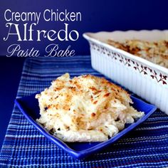 Creamy Chicken Alfredo Pasta Bake. Is what's for dinner tonight. My kids love Pizza Hut pasta. Well this is as close as it gets.