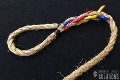 On today's Knot of the Week I'll be covering splicing an eye into a natural fiber rope, which will allow you. View Article On today's Knot of the Week I'll be covering splicing an eye into a natural fiber rope, which will allow you. Rope Knots, Macrame Knots, Bracelet Knots, Crochet Bracelet, Splicing Rope, Knots Guide, Nautical Knots, Rope Crafts, Fishing Knots
