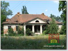 Elewacja frontowa dworu w Ustkowie. Manor Houses, Palaces, Castles, Gazebo, Berlin, Outdoor Structures, Architecture, Ideas, Fotografia