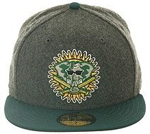 New Era 2Tone Oakland Athletics 1994 Fitted Hat - Flannel, Green, Gold