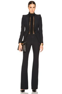 c6d44432ec3 Image 5 of Alexander McQueen Narrow Bootcut Trousers in Black Business  Casual Outfits