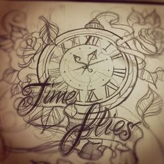 clock tattoo | Tumblr