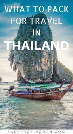 Thailand travel | What to pack for a backpacking trip to Thailand. #thailand #traveltips #travel #backpacking