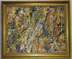 Jackson Pollock Abstract Painting on Canvas Drip Painting, Painting Frames, Port Saint Lucie, Jackson Pollock, Online Art, Contemporary Art, Auction, York, Abstract