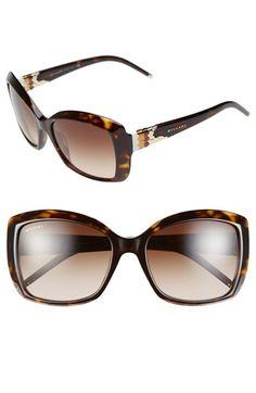 1e27bf4f6 BVLGARI 56mm Square Sunglasses available at #Nordstrom Óculos De Sol Para  Mulheres, Tudo Sobre