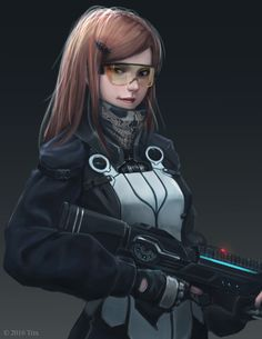 - Character concept, Alen Rocha on ArtStation at cybergoth Female Character Design, Character Creation, Character Concept, Character Art, Concept Art, Cyberpunk 2077, Sci Fi Characters, Shadowrun, Character Portraits